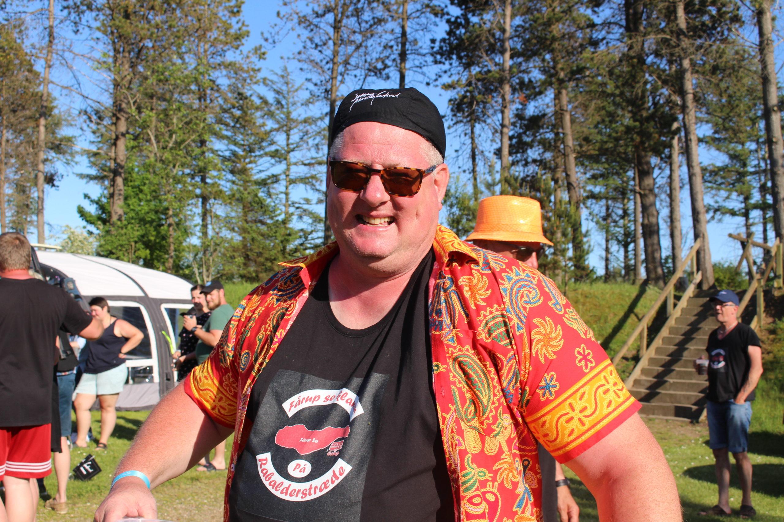 Stemningsbillede under Jelling Musikfestival på Fårup Sø Camping